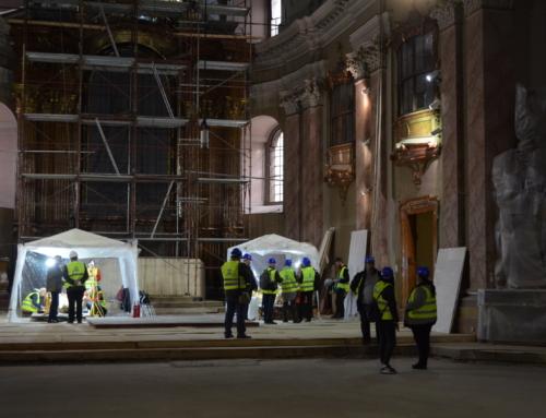Stadiul lucrărilor pe șantierul de renovare și restaure a Domului Sf. Gheorghe, Catedrala Diecezei Romano-Catolice de Timișoara