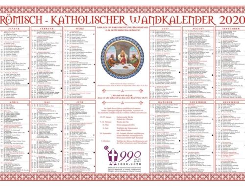 Der Römisch-Katholische Wandkalender 2020