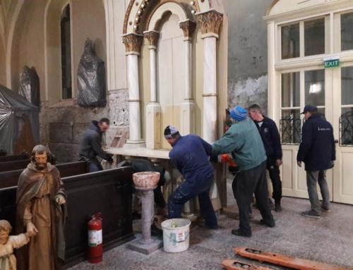 Innenrenovierungen der Pfarrkirche in Sanktanna