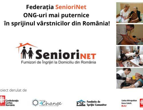 Proiectul Federația SenioriNet – ONG-uri mai puternice în sprijinul vârstnicilor din România!